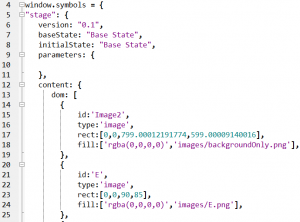 Snippet of generated JavaScript file