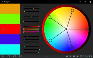 Kuler interface to select colors
