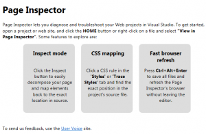 Visual Studio 2011 Page Inspector