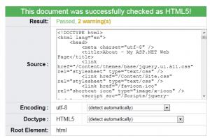 HTML code validates