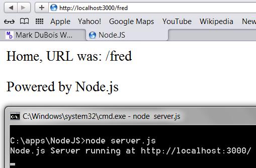 Node Server results