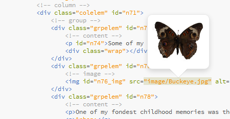 Example of hover preview