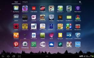 App installed on Tablet