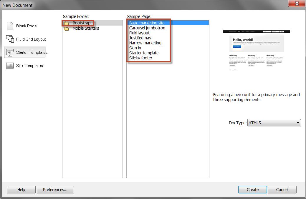 Creating A New Document In Dreamweaver