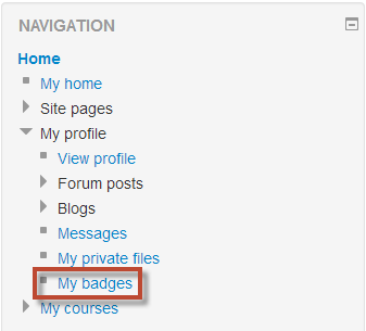 My Badges in Moodle