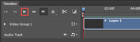 Timeline in Photoshop