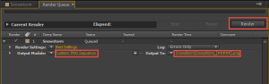 Render queue ready to generate images