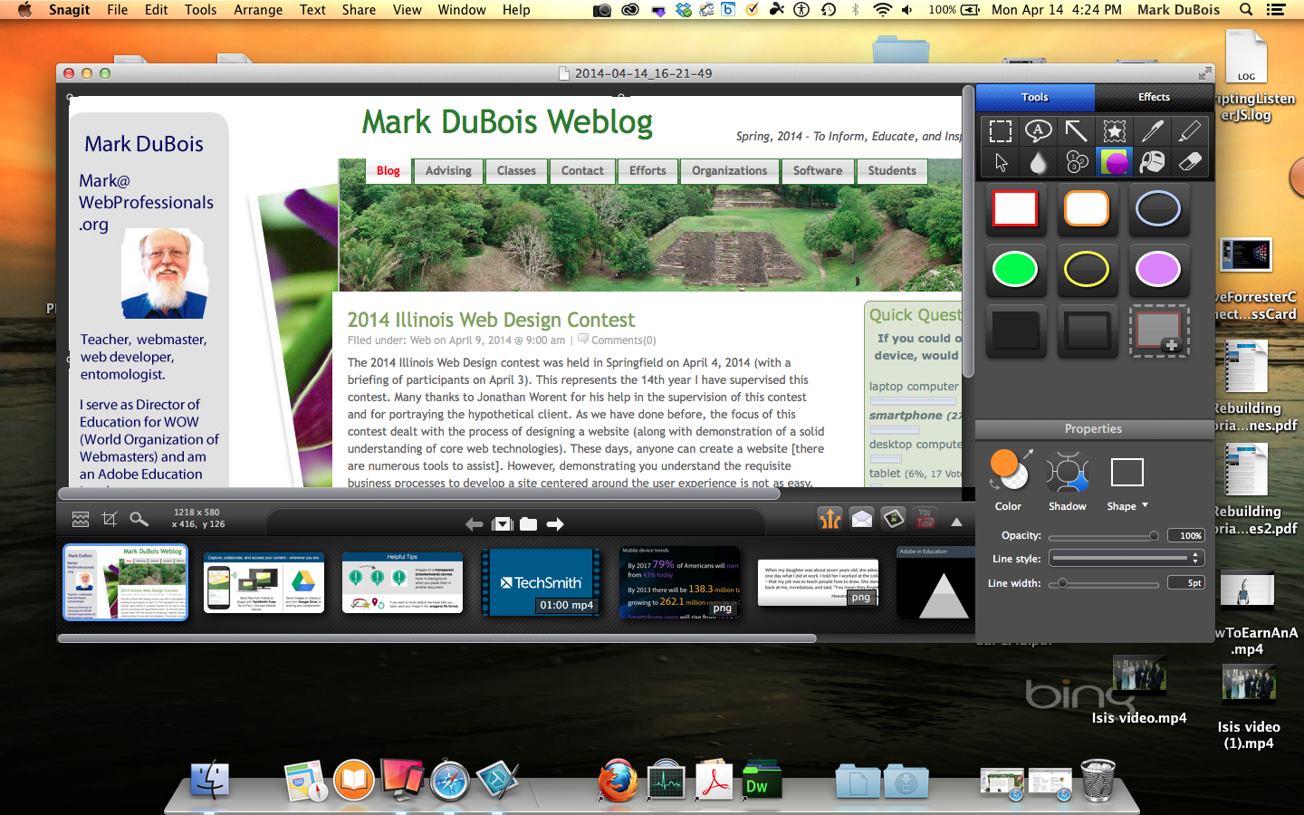 Full Screen Mac SnagIt Editor. Next, the Windows version. In this case, I