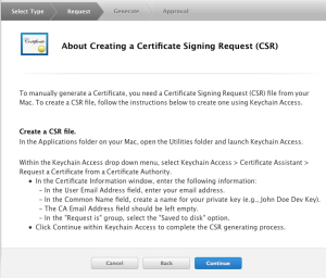 Certificate Signing Request Details