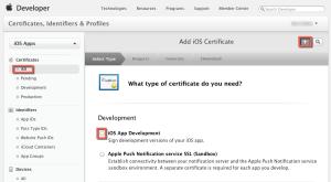 Adding a certificate