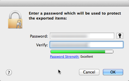 Password for Certificate