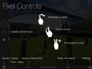 Fixel Gestures