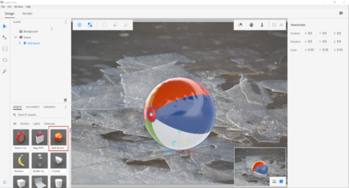 Adding a 3D beach ball to the 2D scene