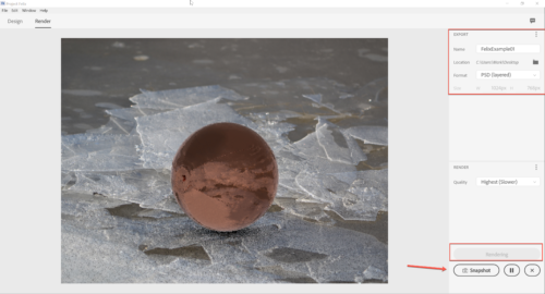 Rendering the final image