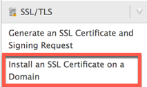 Installing the SSL on the server
