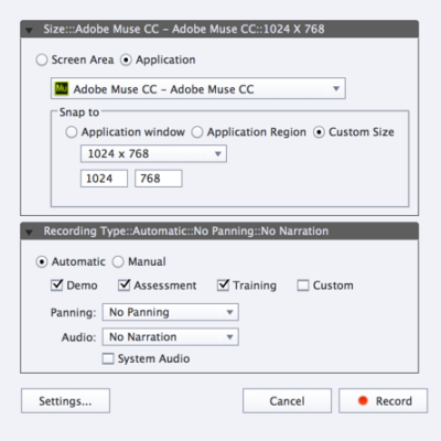 Creating a software simulation with Captivate