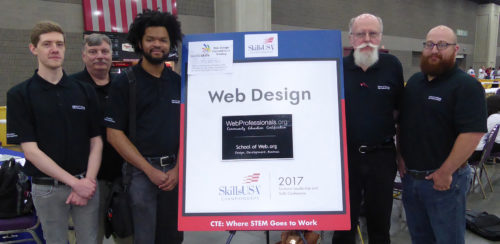 Web Professionals on site team at our national web design contest in Louisville, KY