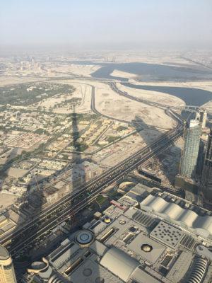 Afternoon shadow cast by Burj Khalifa