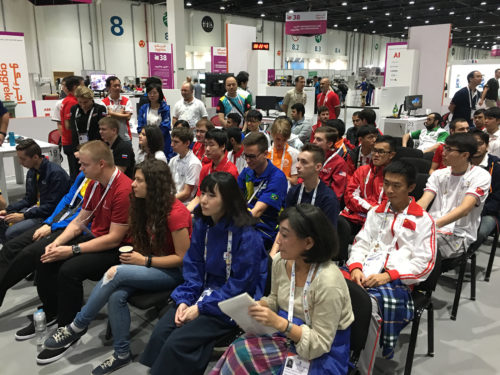 View of competitors during initial briefing of first day of competition