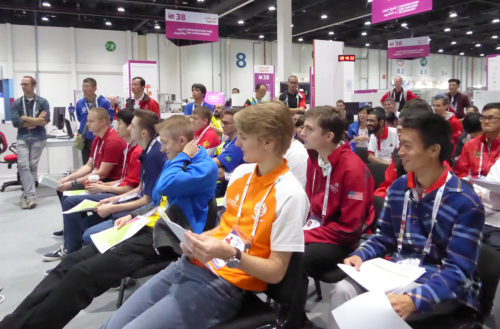 Competitors Listening to Client Side presentation