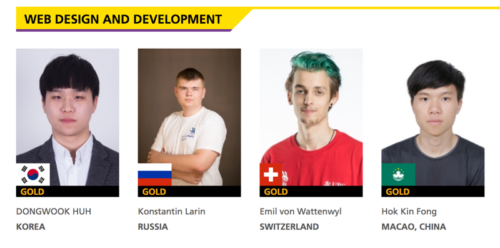 Four champions won the web design and development competition