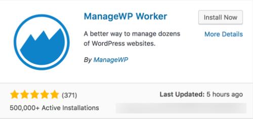 ManageWP plugin screen capture