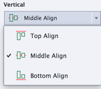 Vertical alignment options with Fluid Boxes