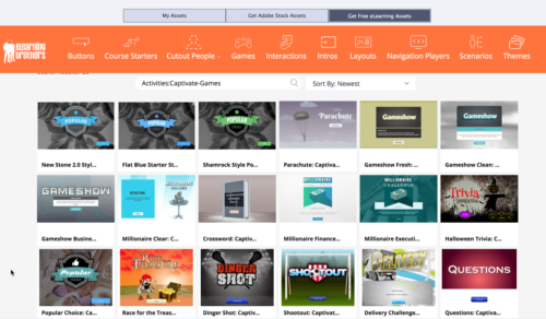 Games available form eLearning Brothers