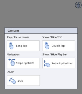 Gestures on mobile device