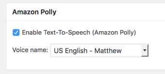 You need to manually enable Polly for each post.